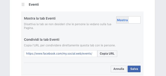 Inserire tab personalizzate Facebook