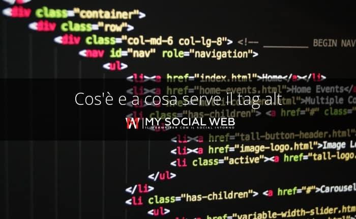 esempio  di tag alt nel codice HTML