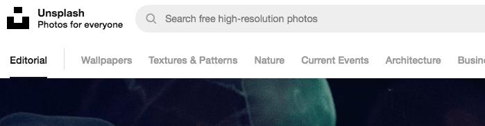 tag e ricerche su unsplash