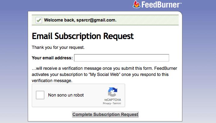 email feedburner