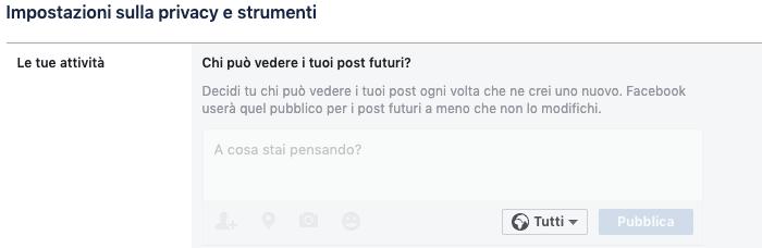 come non far vedere i post su facebook ai non amici