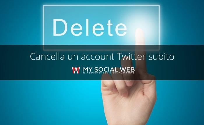 come disattivare account Twitter