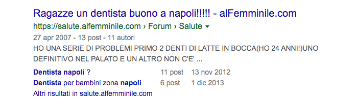google snippet forum