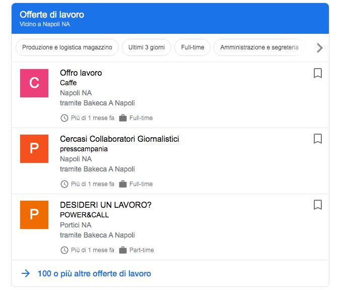 Come trovare lavoro con Google Job Search