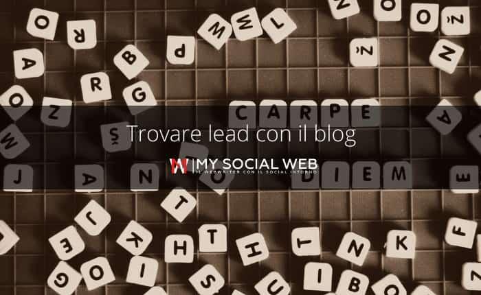 Come fare lead generation con il blog