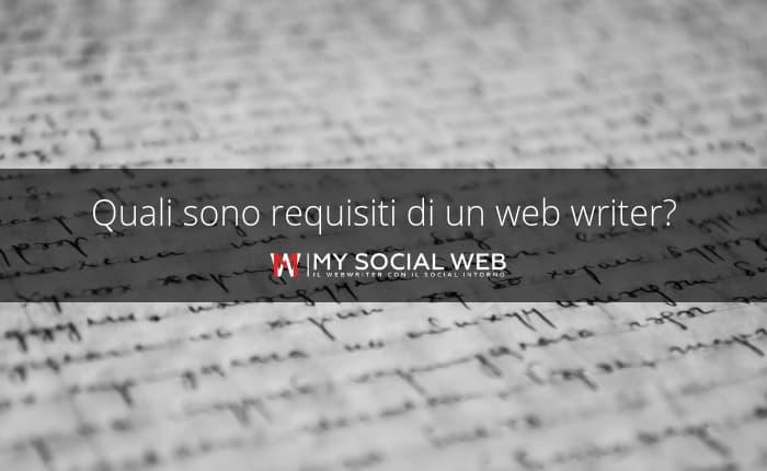 requisiti di un web writer