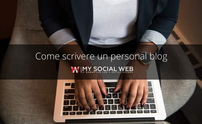 Come scrivere un blog personale