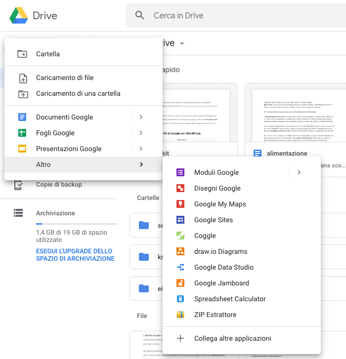 Come creare documenti su Google Drive