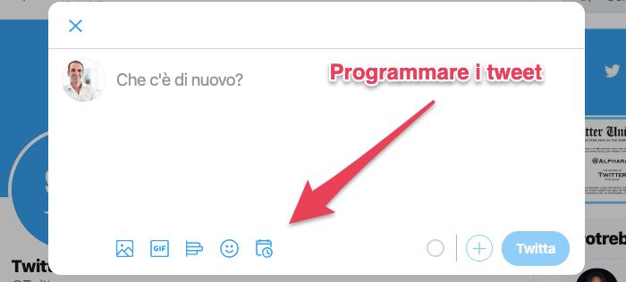 come pianificare tweet