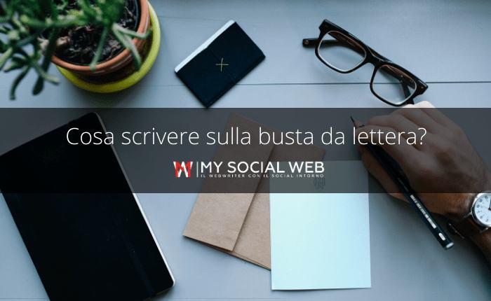 come compilare una busta da lettera