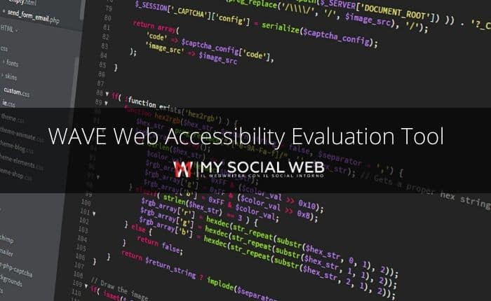 WAVE Web Accessibility Tool