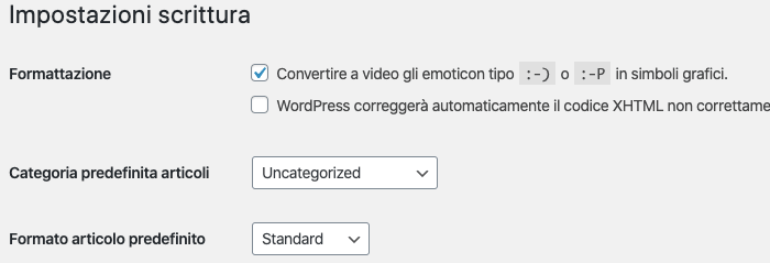 come modificare categorie wordpress