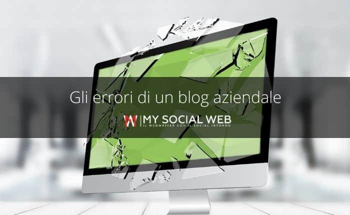 errori di un blog aziendale