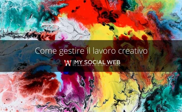 gestire lavori creativi