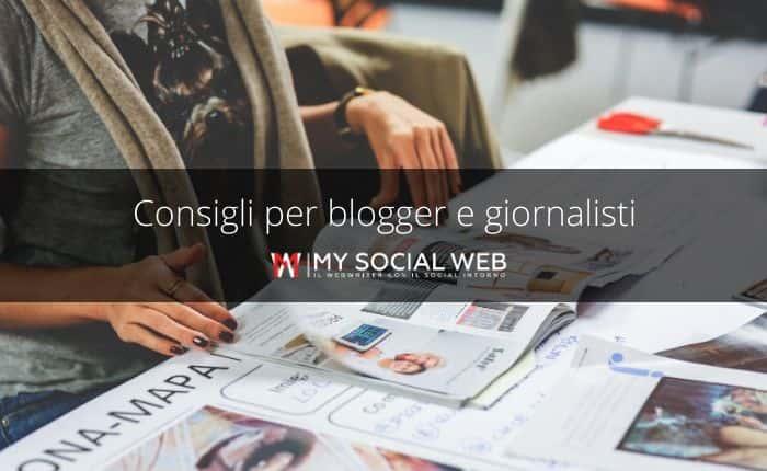 consigli per blogger e giornalisti