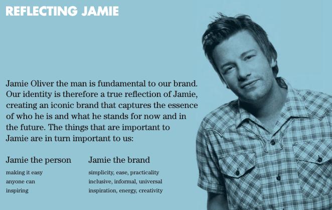 brand book di Jamie Oliver