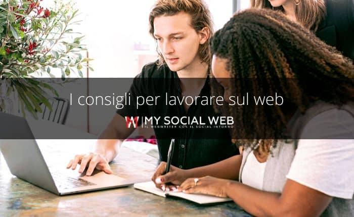 lavorare sul web
