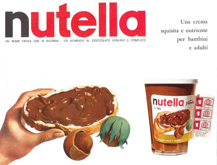 pagina pubblicitaria nutella