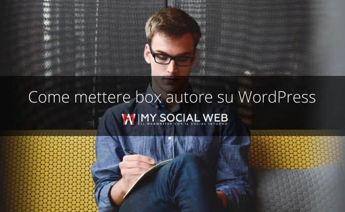 come inserire il box autore su WordPress