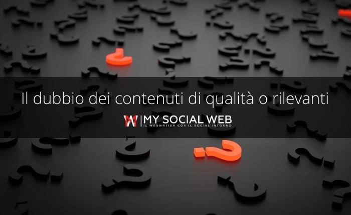 Meglio scrivere contenuti di qualità o contenuti utili?