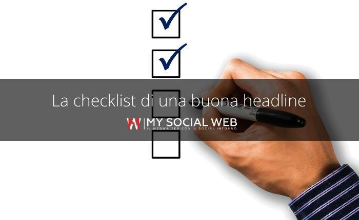 checklist delle headline di successo