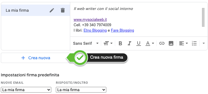 Firme multiple per Gmail