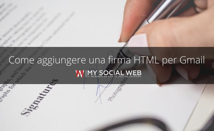 Inserire firma HTML in Gmail