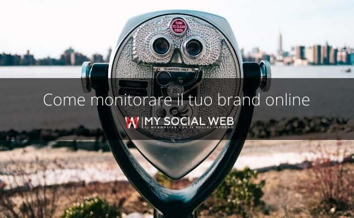 monitorare un brand online