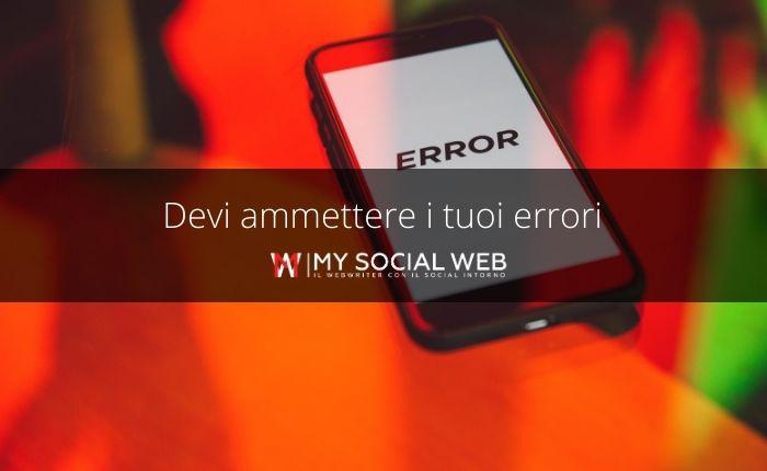 Come ammettere un errore