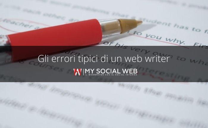 errori di un webwriter