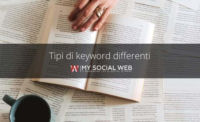 tipi di keyword