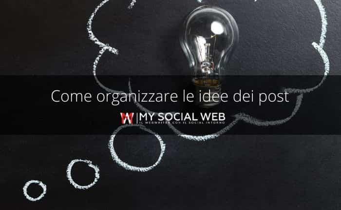 Trovare e organizzare idee per i post