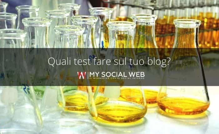 test da fare sul blog