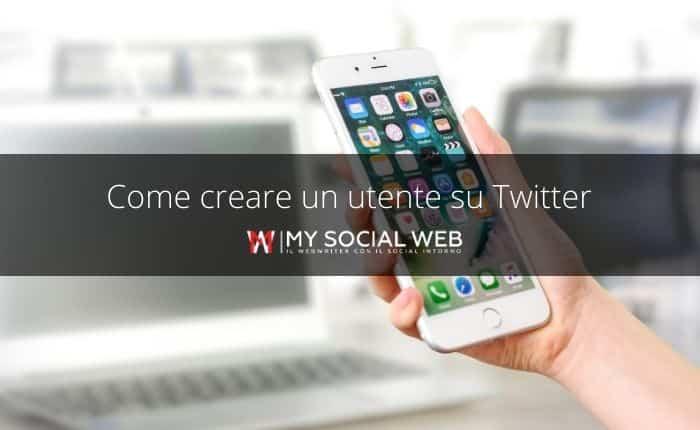 creare un utente su Twitter