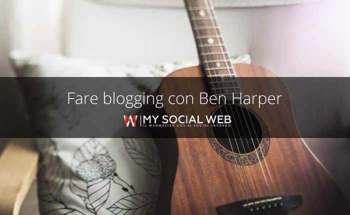Blogging con Ben Harper