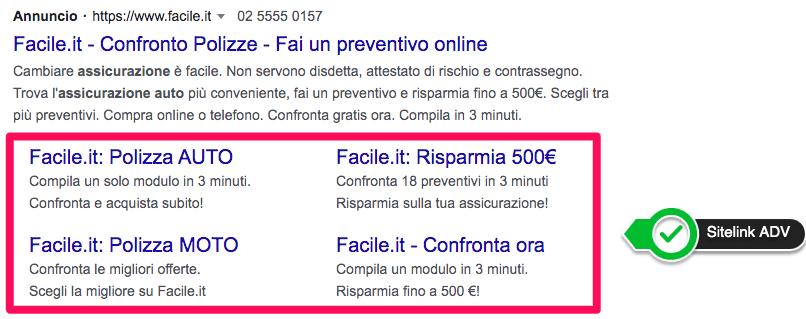 sitelink google ads