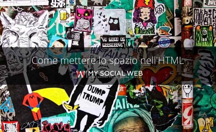 spazio HTML