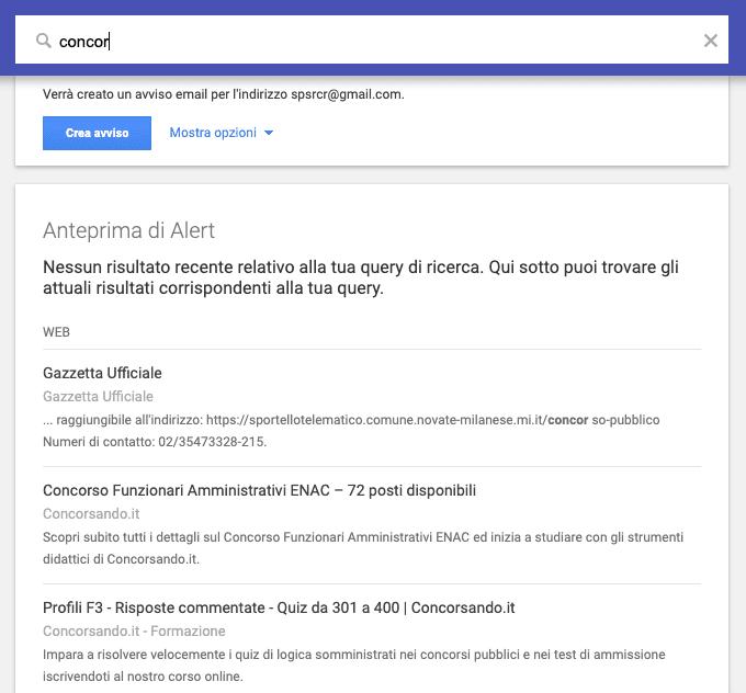 Segui i trend con Google Alert
