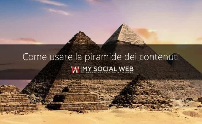 struttura piramidale del content marketing